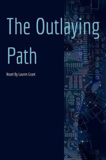 Navy Blue The Outlaying Path Book Cover Couverture de livre