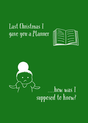 Green Funny Christmas Card Kerstkaart