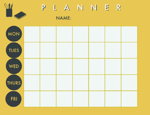 Yellow and White Lesson Plan Horario de clase