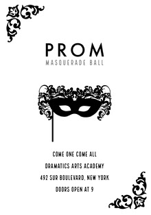 Black and White Prom Poster School Posters