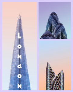London collage Instagram portrait  Architecture