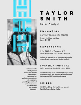 TAYLOR SMITH Creative Resume