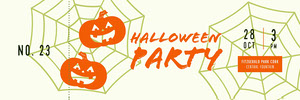 Orange and White Halloween Kid Spooky Party Raffle Ticket Billet de tombola