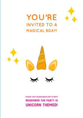 White Orange and Yellow Birthday Invitation Birthday Invitation (Girl)