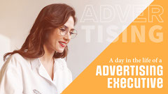 Orange & White Day in the life Advertising Youtube Thumbnail Blogger
