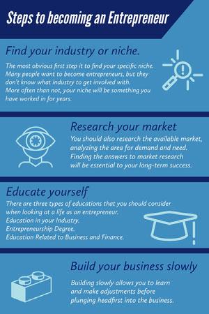 Blue Entrepreneurship Infographic Infographic Examples