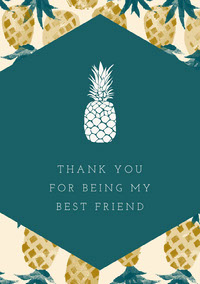 Green Yellow and White Thank You Card Thank You Messages