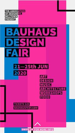 Bauhaus design fair instagram story Fairs