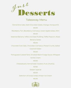 Green and White Dessert Restaurant Takeaway Menu Dessert