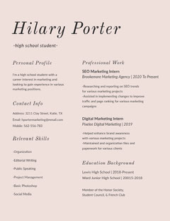 Hilary Porter  Marketing