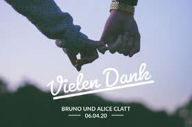 couples postcards Danksagungskarte