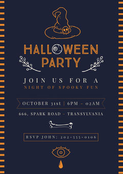 Halloween Witch Party Invitation Halloween Party Invitation
