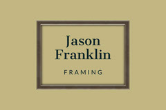 Pale Brown Framing Service Business Card with Logo Brown