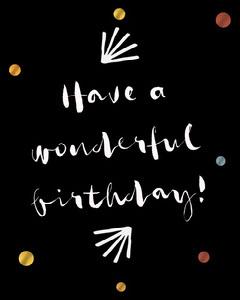 Black and White Typography Birthday Wishes Confetti Instagram Portrait  Birthday