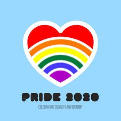 Rainbow Heart Pride 2020 Instagram Square Rainbow