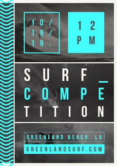 Flyer Surf Competition Surfing