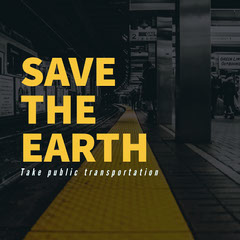 Yellow and Black Sentence Instagram Graphic Earth