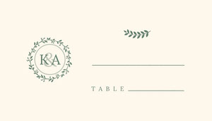 Circle Branch Wedding Place Card Marque-place