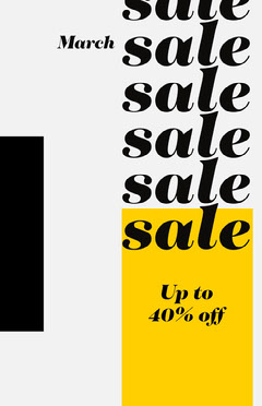 March sale poster Clothing