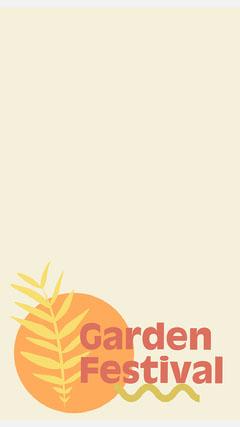 Yellow Garden Festival Instagram Story  Garden