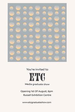 Blue Geometric Degree Show Invite Art Show