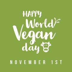 Green and White World Vegan Day Instagram Square Vegan