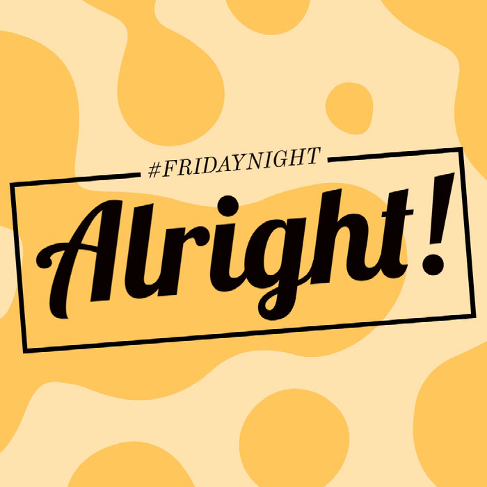 Yellow Friday Night Instagram Square Meme Good Night Messages