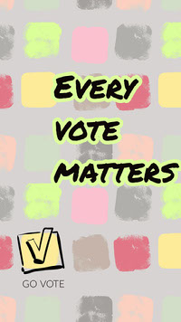Pastel Colored Every Vote Matters Election Participation Instagram Story Grassroot Movement Posters