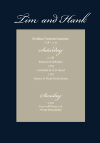 Black and Beige Wedding Program programmes