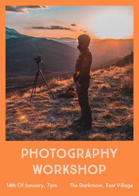 photography flyer Folleto de invitación a evento