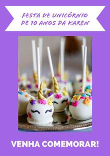 cake pop unicorn birthday cards  Cartão de aniversário