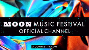 Black and Blue Moon Music Festival Youtube Channel Art Poster per festival musicali