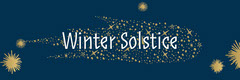 Navy Gold Winter Solstice Banner Stars