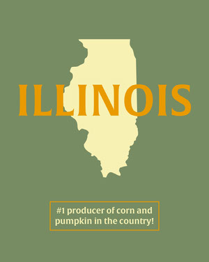 Green Illinois Educational Instagram Portrait Graphic 50 Modern Fonts