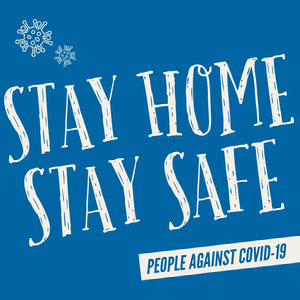 Stay Home Stay Safe Instagram Square Resta a casa, vivi a casa