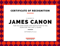Star Patterned Certificate of Recognition  Pattern Design