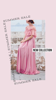 Pink, Light Toned, Fashion Summer Sale Ad Instagram Story New Collection