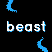 Black White and Blue Game Logo Logo