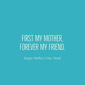 Minimalistic Blue Mothers Day Instagram Post Mother's Day Messages