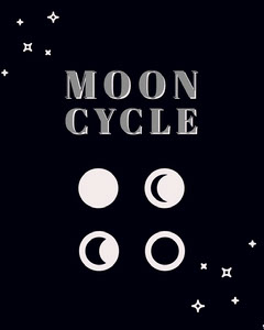Moon cycle Moon