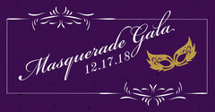 Violet and White Masquerade Gala Promotion Gala Flyer
