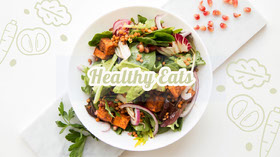Healthy Eating Youtube Channel Art Banner Banner per YouTube
