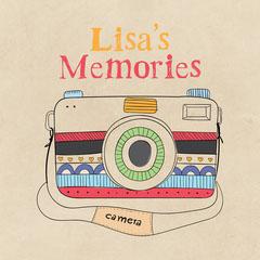 Pink Camera Illustration Memories Photo Album Cover Square New Collection
