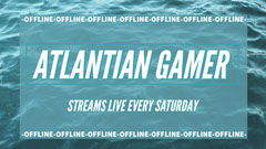 Blue and White Atlantian Gamer Banner Stream