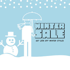 winter sale instagram  Sale Flyer