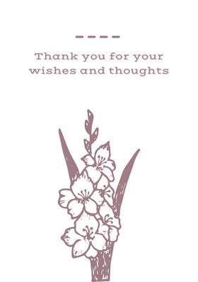Claret and White Thank You Card Thank You Card